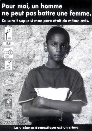 2002 Affiche camp violence pour moi un homme ne peut pas battre