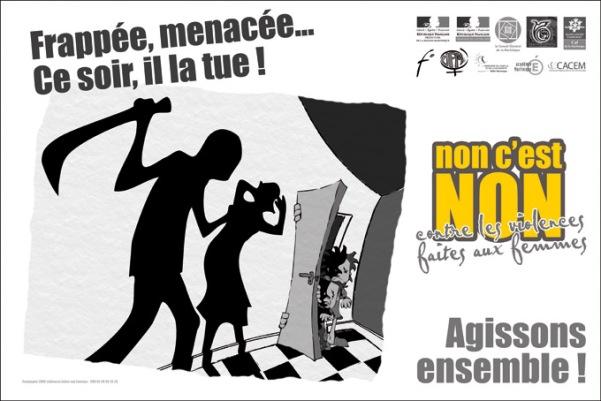 2006 affiche camp violence frappee menacée